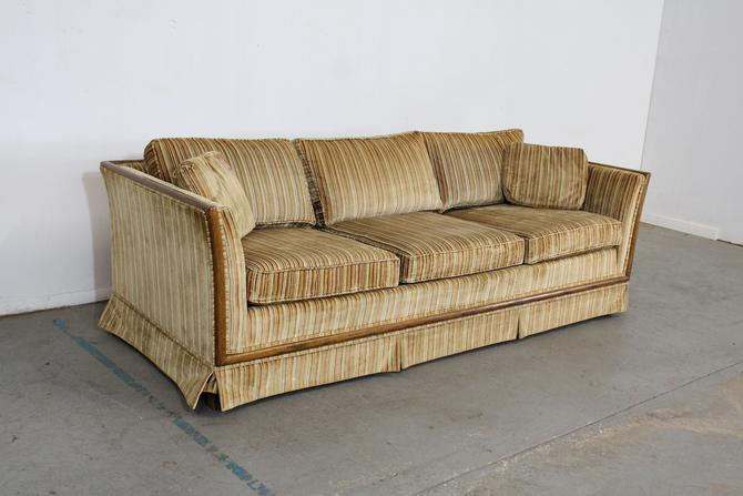 Mid-Century Danish Modern Milo Baughman Style Low Profile 3 Seat  Sofa by AnnexMarketplace