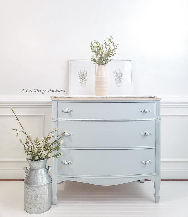 Dresser, Painted Furniture, Buffet, Nursery Decor, Bedroom Furniture by AminiDesignAshburn