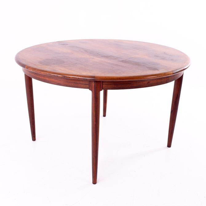Mid Century Rosewood Dining Table with Two Leaves - mcm by ModernHill