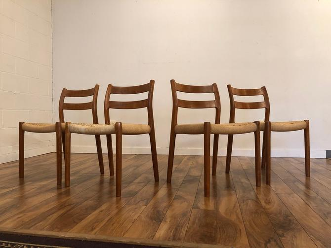 Niels Otto Møller for j.l. Møller Teak Dining Chairs, Model 84 - Set of 4 by Vintagefurnitureetc