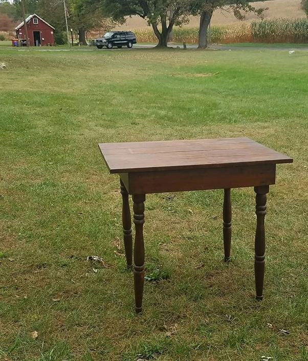 SOLD.                    Small Plank Top Writing Table