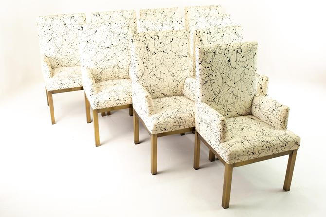Mastercraft Mid Century Bronze Dining Chairs - Set of 10 - mcm by ModernHill