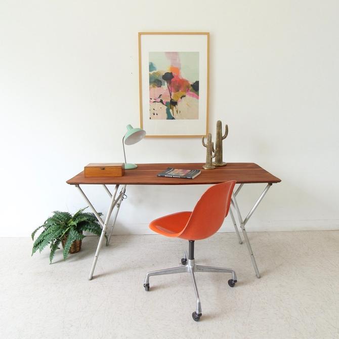 Vintage Adjustable Coffee Table\/Dining Table
