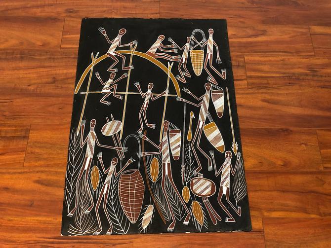 Original Aboriginal Art From Marrawuddi Gallery by Vintagefurnitureetc