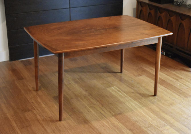 Restored Danish teak expandable dining table by Kurt Ostervig for Brande Mobelfabrik by MidCenturyClever