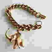 Gold Tone Elephant Charm Bracelet by LegendaryBeast