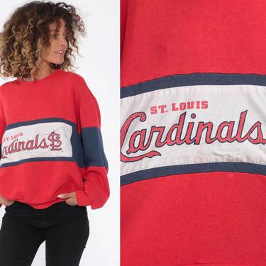1b77535a St Louis Cardinals Shirt 90s Sweatshirt Baseball Shirt Retro Sports  Pullover Jumper Vintage Print Red Crewneck Large by ShopExile