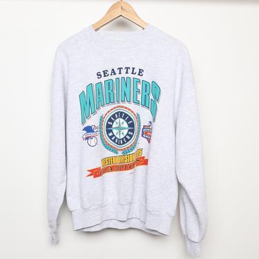 vintage 90s SEATTLE MARINERS heather grey raglan mlb vintage baseball sweatshirt -- size Large t-shirt by CairoVintage