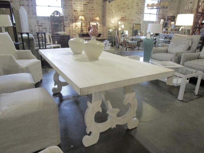 PAINTED  TRESTLE  DINING TABLE