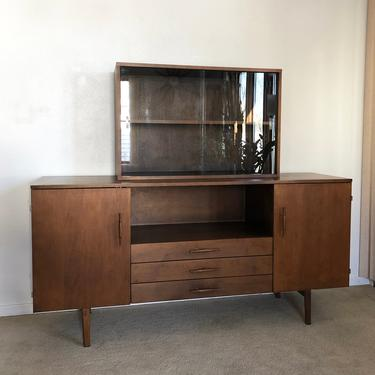 Paul McCobb Planner Group credenza sideboard hutch cabinet mid century by TripodModern