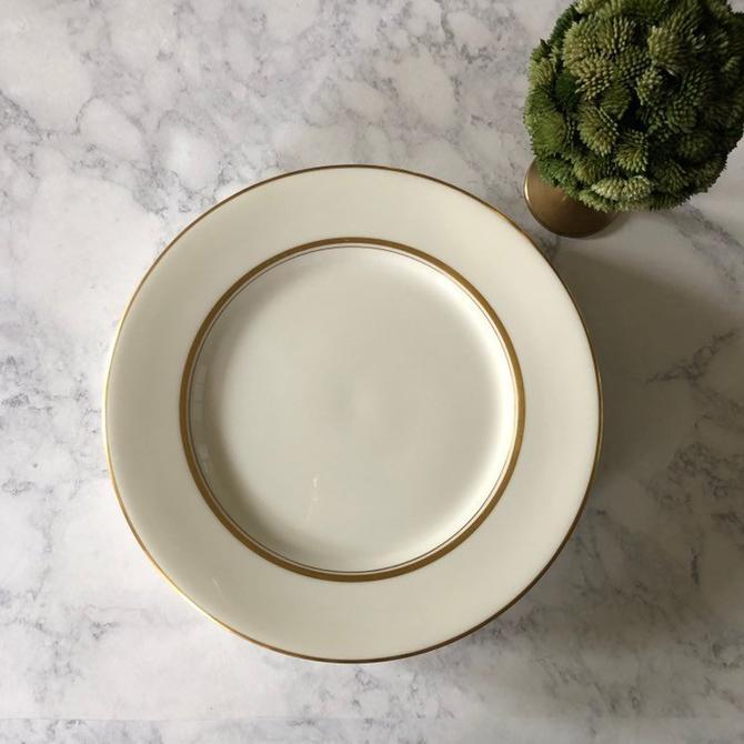 Vintage Fukagawa Dorset White and Gold China Dinner Plates (set of 7) Fukagawa Japan Arita bone china, clean modern dinnerware, replacement by ShopTheHyphenate