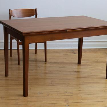 Mid Century Danish Modern Expanding Dining Table by SpacedOutFurniture