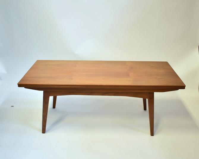 Danish teak convertible table