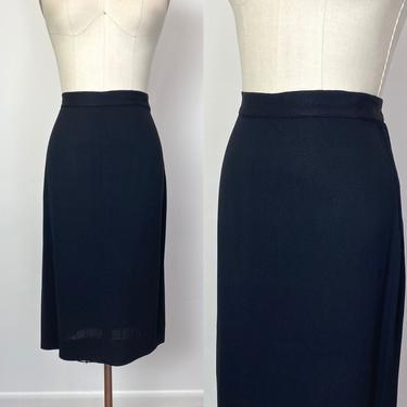 Vintage 1940s Black Crepe Skirt 40s by littlestarsvintage