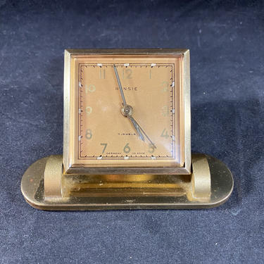 Vintage Rensie Germany US Zone 7 Jewel Wind-up Alarm Clock Works by accokeekpickers