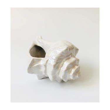Vintage Iridescent Ceramic Shell Planter by SergeantSailor