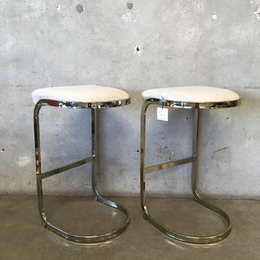 Pair of Mid Century Bar Stools