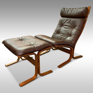 Ingmar Relling Siesta Lounge Chair and Ottoman for Westnofa, Circa 1970s - *Please ask for a shipping quote before you buy. by CoolCatVintagePA