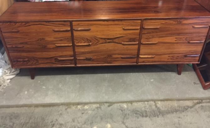 Long Danish MCM Rosewood Dresser