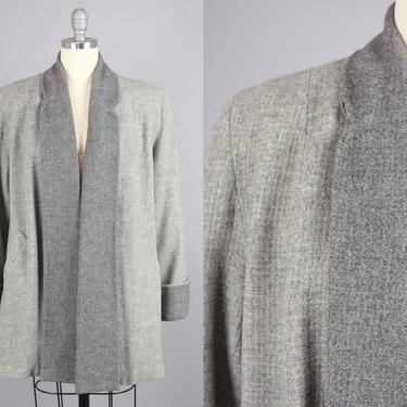1950s Two Tone Swing Jacket | Vintage 40s 50s Grey Wool Coat | smedium by RelicVintageSF