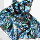 Blue Brain Scan -  Silk Charmeuse Scarf - neuroscience scarf by artologica