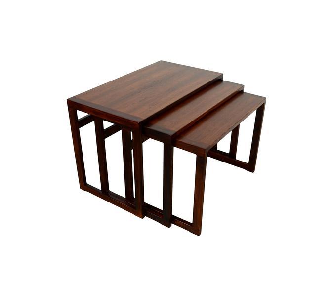 Rosewood Nesting Tables Kai Kristiansen for Vildbjerg Møbelfabrik Danish Modern Mid Century Modern by HearthsideHome