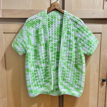 1960s Vintage Retro Granny Crochet Cardigan Sweater Jacket Cottagecore CoatKawaii Clothing Kitsch Clothes by LoveItShop