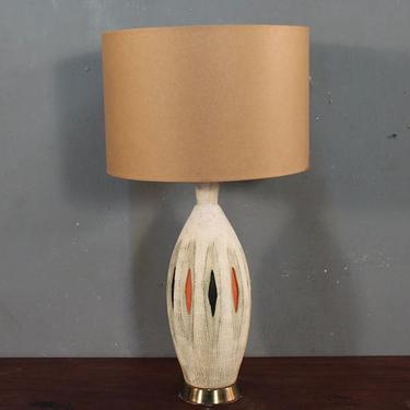 Mid Century Diamonds Ceramic Table Lamp