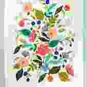 Blooming Floral Tea Towel