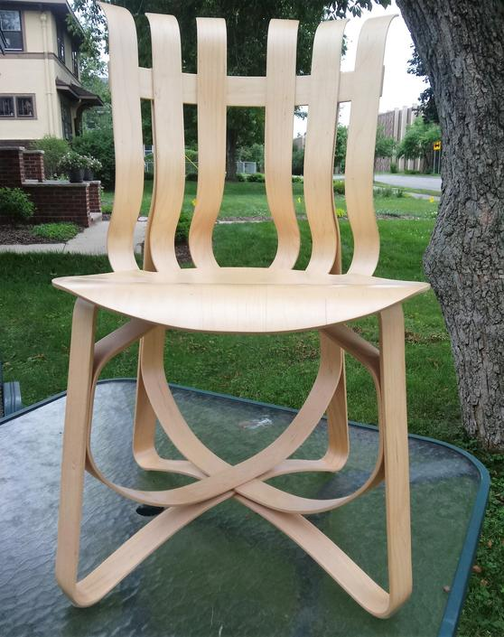 Mid Century Modern Chairs, Frank Gehry Hat Trick Bentwood Chair, Gehry for Knoll, MCM Decor by 3GirlsAntiques