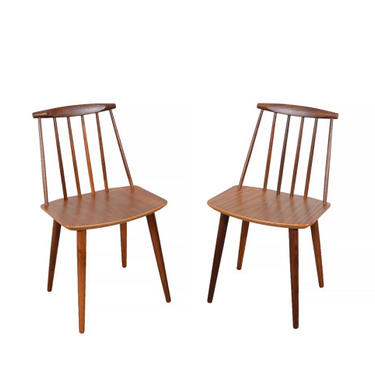 Chair Folke Palsson for FDB Mobler j77 set of 6 chairs in Walnut Danish Modern by HearthsideHome