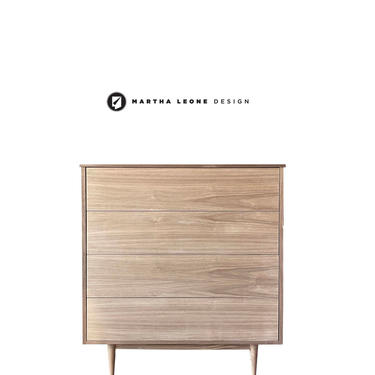 New Hand-Crafted Walnut Tallboy with custom finishes available by MarthaLeoneDesign