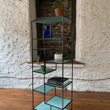 Mid century modern bookshelf mid century etagere mid century modern plant stand by VintaDelphia