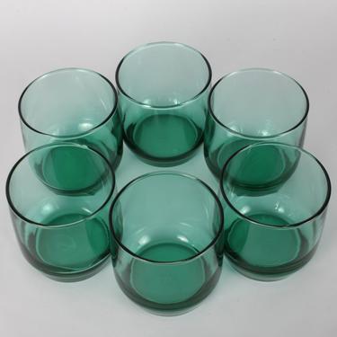 Anchor Hocking, Green Glassware, Vintage Glassware, Whiskey Glassware, Water Glasses, Vintage Glasses, Glassware, Vintage Barware, Set of 6 by 1882BlueVintage