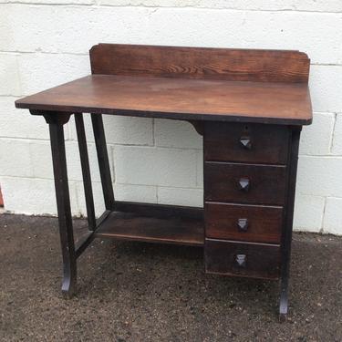 Mission oak desk and chair set c1915 by QuaboagValleyAntique