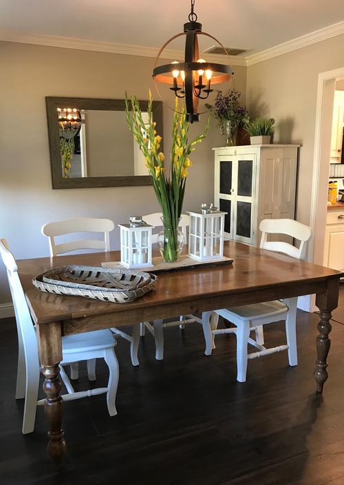 Turned Leg Farmhouse Dining Table by HickoryandHaze
