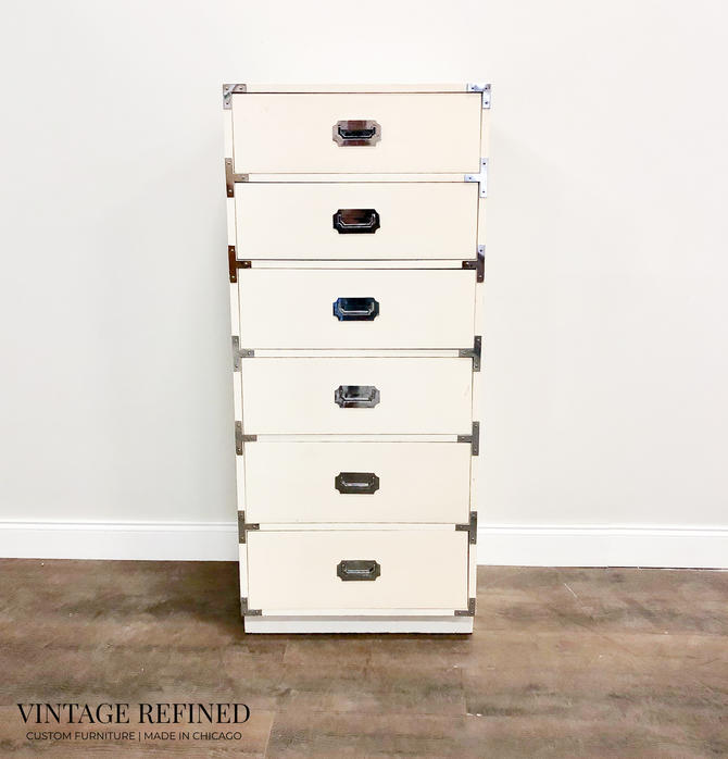 CUSTOMIZABLE: Campaign Chest by VintageRefinedDecor