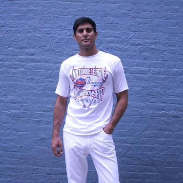 1988 National League Championship Series Starter T-Shirt | Sz M | Retro New York Mets | LA Dodgers | MLB Collectible | Baseball Shirt | gift by HamletsVintage