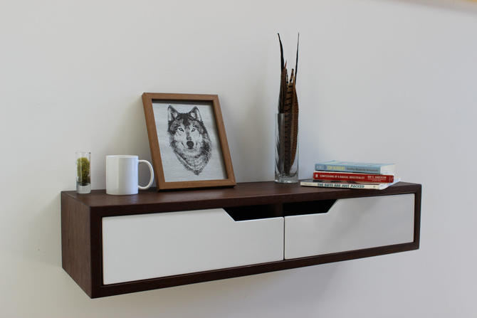 Custom Modern Floating Walnut Console for Stephen by ImagoFurniture