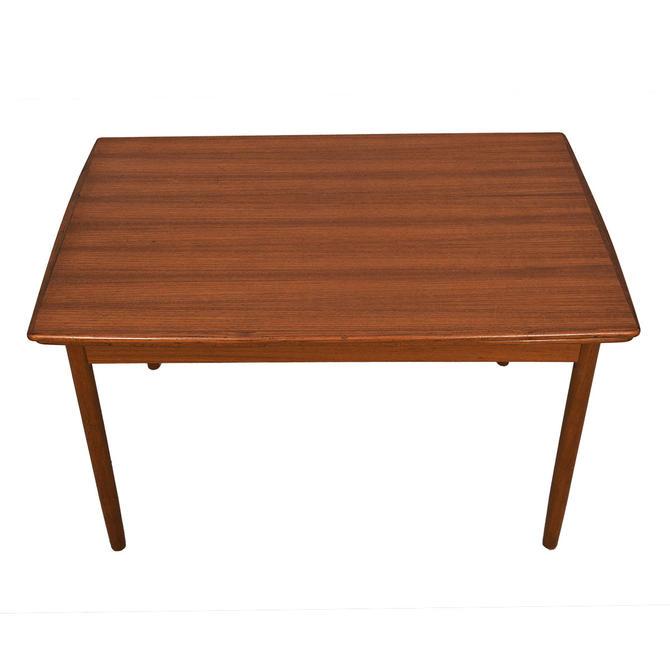 Danish Teak Apartment-Sized Dining Table w / Leaves