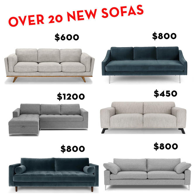 We have a huge inventory of NEW sofas. They are down filled, with pirelli strap suspension, solid wood legs, and high quality upholstery.  We also…