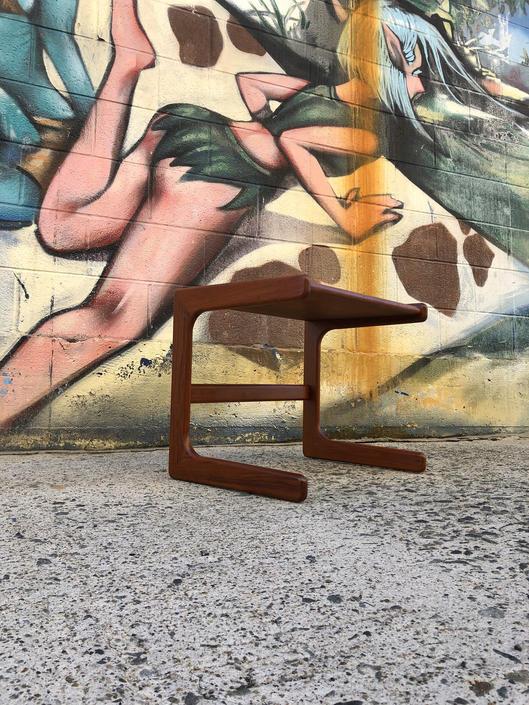 Vintage Danish Teak C-Table by BentwoodVintage