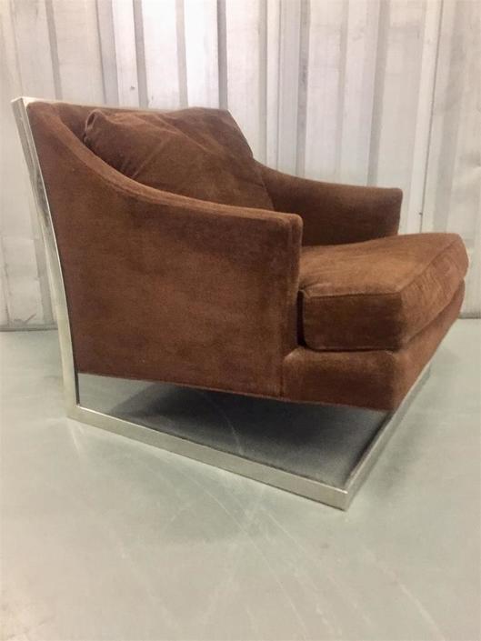Original Milo Baughman Thayer Coggin Cantilever Lounge Chair Midcentury Modern