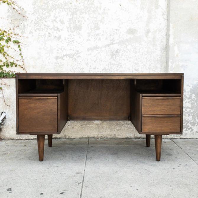 Vintage refinished walnut desk