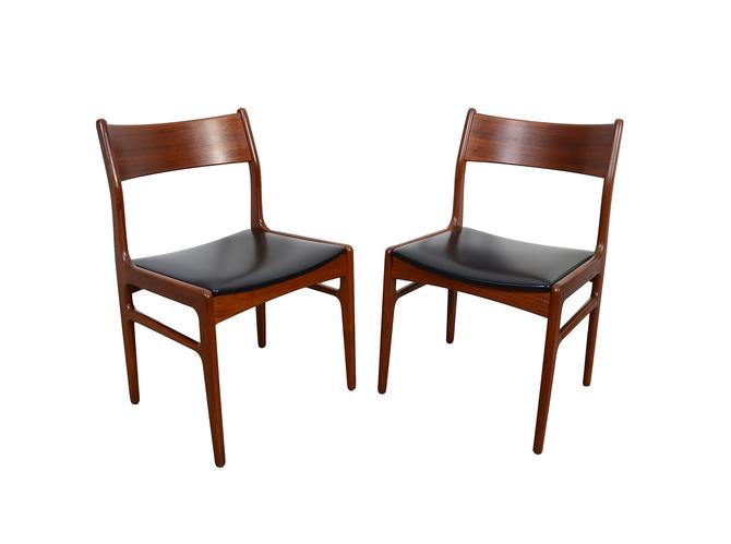 Teak Dining Chairs Funder-Schmidt and Madsen Danish Modern by HearthsideHome