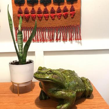 Vintage Arnel's Large Ceramic Frog Toad Handmade 1973 Sculpture Figurine Woodland Decor by VintageCoreReStore