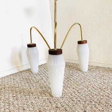 Mid Century Spider Lamp, Sputnik Atomic, 3-armed Chandelier Ceiling Lamp, Vintage Light Fixture, Stilnovo 50s 60s Mid Century Ceiling Lamp by dadacat