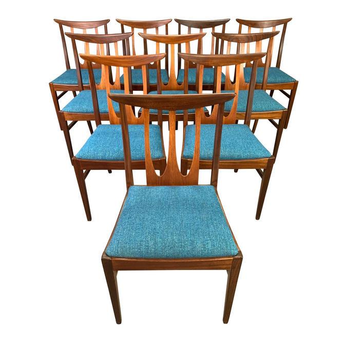 "Set of Ten Vintage British Mid Century Modern Teak ""Brasilia"" Dining Chairs by G Plan by AymerickModern"