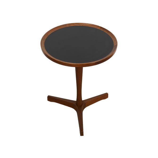 Hans Andersen Teak Side Table Black Top Danish Modern by HearthsideHome