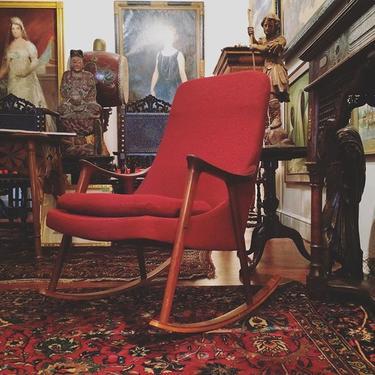 Danish rocking chair from Copenhagen. 1960s midcentury modern MCM. $1800. Galerie L'Enfant, Georgetown.